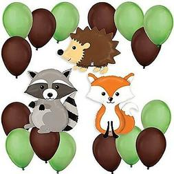 Woodland Creatures - Baby Shower or Birthday Party Balloon K