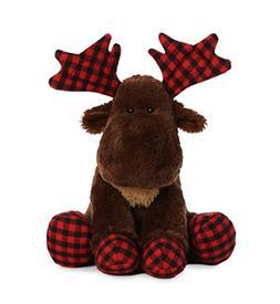 Aurora World Moose Lumberjack Plush, Brown