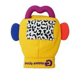 Gummee Glove Yellow Baby Teething Mitten Silicone Teether Ri