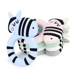 Zebra Infant Baby Teether Food Grade Silicone Soother Chewab
