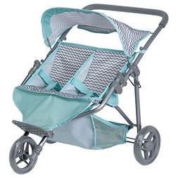 "Adora ""Zig Zag Twin Jogger Stroller"" Baby Doll Gender Ne"